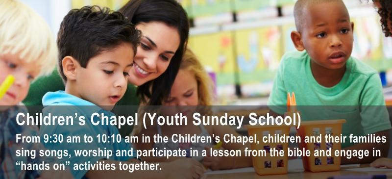 Sunday school at St. John's Chapel in Monterey for kids