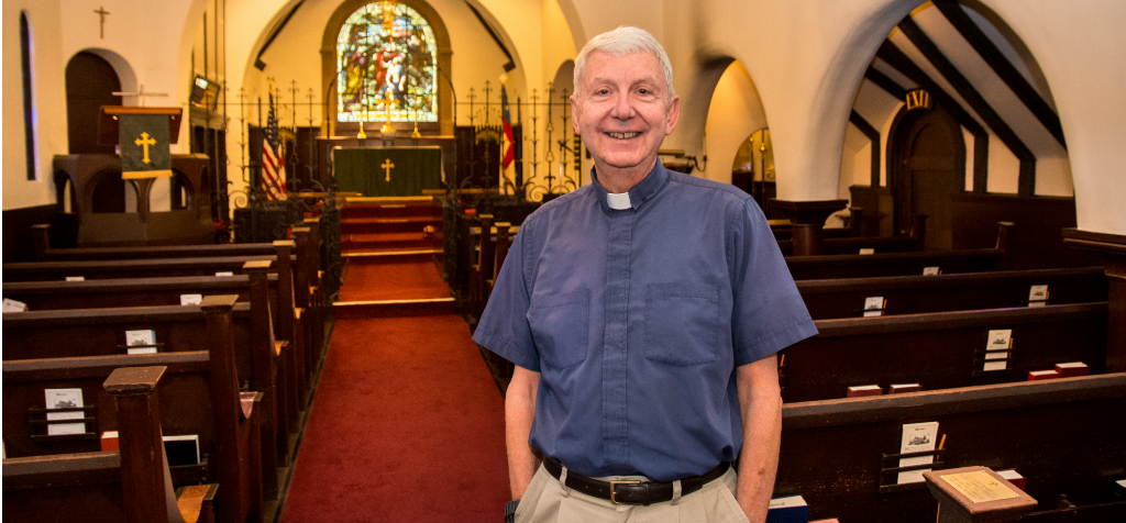 Bob Ott, priest at St. John's Chapel in Monterey